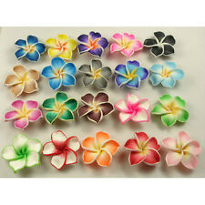 100 PCS Mixed Color Fimo Polymer Clay Flower Beads 30mm