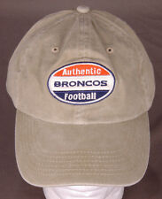 Authentic Broncos Football Hat-Olive-Hook & Loop Back-Denver Mattress-BD&A-Colo.