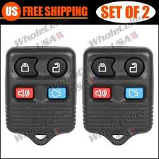 2 Brand New Replacement Keyless Entry Car Remote Key Fob Transmitter For Ford