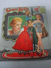 1956 WHITMAN CUT OUT GRACE KELLY MOVIE STAR PAPER DOLLS & CLOTHES NOT CUT!