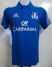 ITALY RUGBY BLUE POLO SHIRT BY ADIDAS ADULTS SIZE 42/44 INCH CHEST BRAND NEW