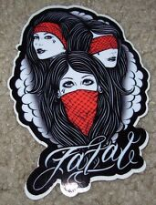 "FATAL No Evil 3.5 X 5"" STICKER skate skateboard helmet decal"