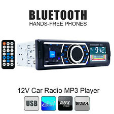 In-Dash Bluetooth Car Stereo 1 DIN Audio FM Radio Aux Input Receiver SD USB MP3
