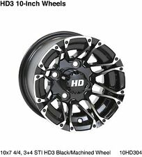 Set of (4) ITP or HD 10 x 7 Aluminum Golf Cart Car Rims Wheels