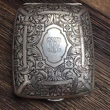 Rare Antique Tiffany & co. Sterling silver Travel Clock Case.