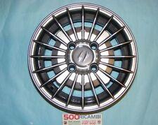 FIAT 500 F/L/R 126 4 CERCHI IN LEGA RUOTE 4,5x12 GRIGIO FUME A RAGGI 4X98 NEW