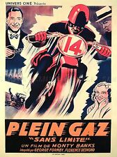 FILM MONTY BANKS MOVIE MOTORCYCLE SANS LIMITE FRENCH PLEIN GAZ POSTER LV1578