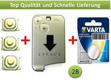 RENAULT ESPACE 4 scheda chiave 2 tasti Button Key Card CLE llave chiave case