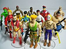 D1081531 STREET FIGHTER GI JOE FIGURE SET COMPLETE OF 12 W/ CUSTOM ACCESSORIES