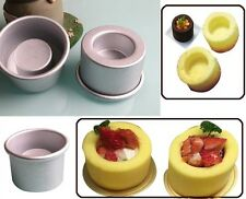 HOT Fillable Mold Round Shape Concave and Raised Cupcake Pudding Baking Tin Pan
