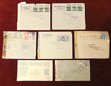 7 ARGENTINA WWII Censored Covers Buenos Aires to Hollywood CA + SANTIAGO CHILE
