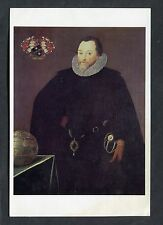 C1980's Art Card - Sir Francis Drake by Marcus Gheeraerts the Younger.