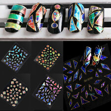 3D 15 Sheets Nail Art Transfer Stickers Design Manicure Tips Decal Decoration