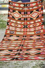 5'5''x13'6'' Tent Woven Divan -Natural Dyed Wool Area Kilim Folk-Art SE Turkey