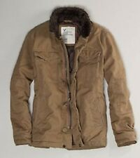 NWT 2011 AMERICAN EAGLE QUITED TRAIL MILITARY KHAKI JACKET/ COAT SMALL