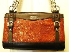 MICHE SHELL ONLY MINT CLASSIC SIZE REESE BROWN SKIN  BUCKLE PURSE HANDBAG