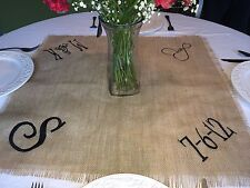 Personalized Monogram Wedding Reception Table Square Topper Cloth