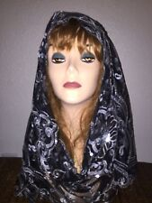 Long Black Scarf Hijab Wrap Sheer very pretty and fashionable Last 1