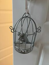 Next silver / Grey metal wall Hanging art. Bird Cage Small Size Approx 4""