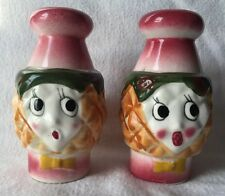 Vintage Anthropomorphic Grantcrest Pineapple Salt Pepper Shaker Set Japan Island