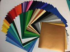 25 Sheets 12x12 Oracal 651 adhesive craft vinyl for cricut cameo decal 63 colors