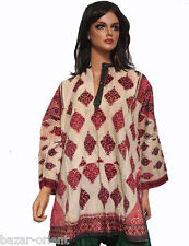 antike Nomaden Kleid aus swat-tal Pakistan antique Woman's embroidered Dress N2