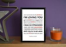 Framed - Paolo Nutini - Loving You - Poster Art Print - 5x7 Inches