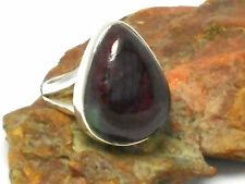 RUBY / Zoisite   Sterling  Silver  925  Gemstone  RING  -  P / 7.5 - Gift Boxed