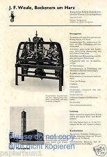Turmuhr Farbik Weule Bockenem Reklame 1935 Glockengießerei St. Nicolai Dortmund