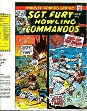 Sgt. Fury 116 COVER PROOF Ayers 1973 Nick Dum-Dum Nazi Menace WWII Marvel Art