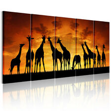 Large Canvas Prints Home Decor Wall Art Painting Picture-Giraffe Group Unframed