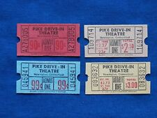 4 Vintage Pike Drive In Theatre Tickets Lot (Movie/Cinema) Newington, CT