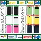 Smart View Cover Case Samsung Galaxy S 4 IV GT-i9500 with Plastic Window NEW