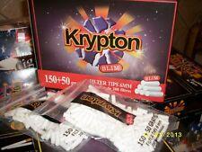 20 Bolsas Filtros  para hacer cigarrillos SLIM O,6mm.   KRYPTON 200 BOQUILLAS