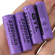 4pcs 3.7V 2300mAh 14500 AA Li-ion Rechargeable Battery For LED Flashlight DT