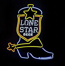 Lone Star Boot Neon Sign Display Beer Bar Pub Mancave Garage Light Custom B387