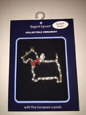 Regent Square Christmas Holiday Scottish Terrier Dog Ornament Crystal Accents