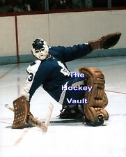 LEAF Mask! Doug FAVELL LEANS Back AFTER a SAVE Toronto MAPLE Leafs 8X10 NEW WOW!