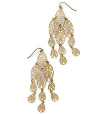 Lia Sophia Jakarta Fish Hooked Earrings Matte Gold NWT