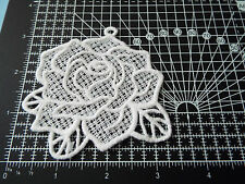 Large White Flower Guipure Lace,Applique,Trimmings,Wedding-Rose Motif - 9 x 8 cm