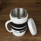 Camera Lens Mug Tea Coffee Cup Mug Stainless Steel Thermos Lined & Lid