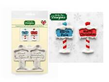 Katy Sue Designs Christmas Sign Posts Mould    FAST DESPATCH