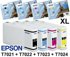 4x ORIGINAL EPSON TINTE PATRONEN XL WF WORKFORCE PRO WP4015DN WP4025DW WP4095DN