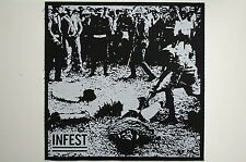 Infest Back Patch (BP28) Crust Punk Doom Dirt Aus Rotten Negative Approach