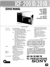 SONY ICF-2001D, ICF-2010 SERVICE MANUAL - CHEAPEST PRICE