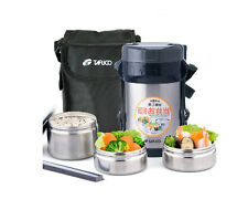 Stainless Steel Insulated Thermos Lunch Box Thermal Food Jar Container Lunch Bag