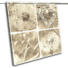 Shabby Chic Floral Type Vintage SINGLE CANVAS WALL ART Picture Print