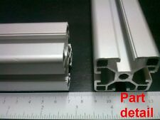 "Aluminum T-slot extruded profile 40x40-8  Length 1200mm( 48""), 2 pieces set"