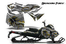 SKI-DOO REV XM SUMMIT SNOWMOBILE CREATORX GRAPHICS KIT DRAGON FURY YELLOW SILVER