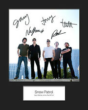 SNOW PATROL #1 10x8 SIGNED Mounted Photo Print - FREE DELIVERY